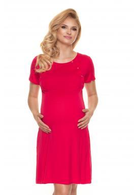 Ružová tehotenská a dojčiaca košeľa na zapínanie