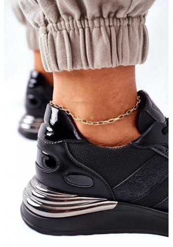 Čierne štýlové dámske Sneakersy