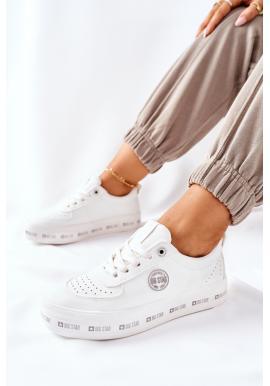 Biele dámske tenisky na vyvýšenej podrážke značky Big Star