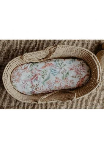 Prestieradlo na oválny matrac do kočíka 100% bavlna - Flóra